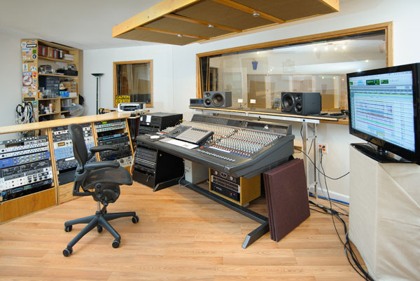 Giant Steps Recording Control Room